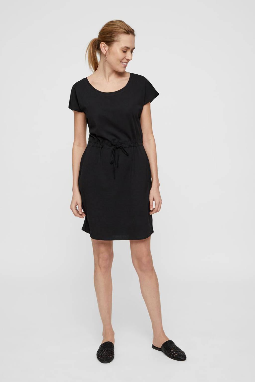 AWARE by VERO MODA jersey jurk van biologisch katoen zwart, Zwart
