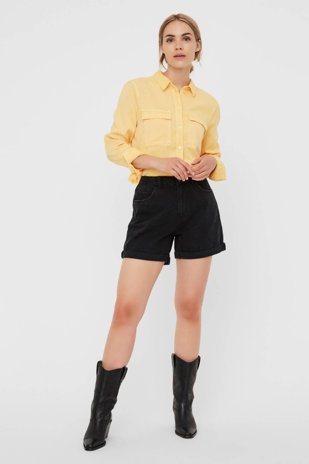 VERO MODA jeans short zwart, Zwart