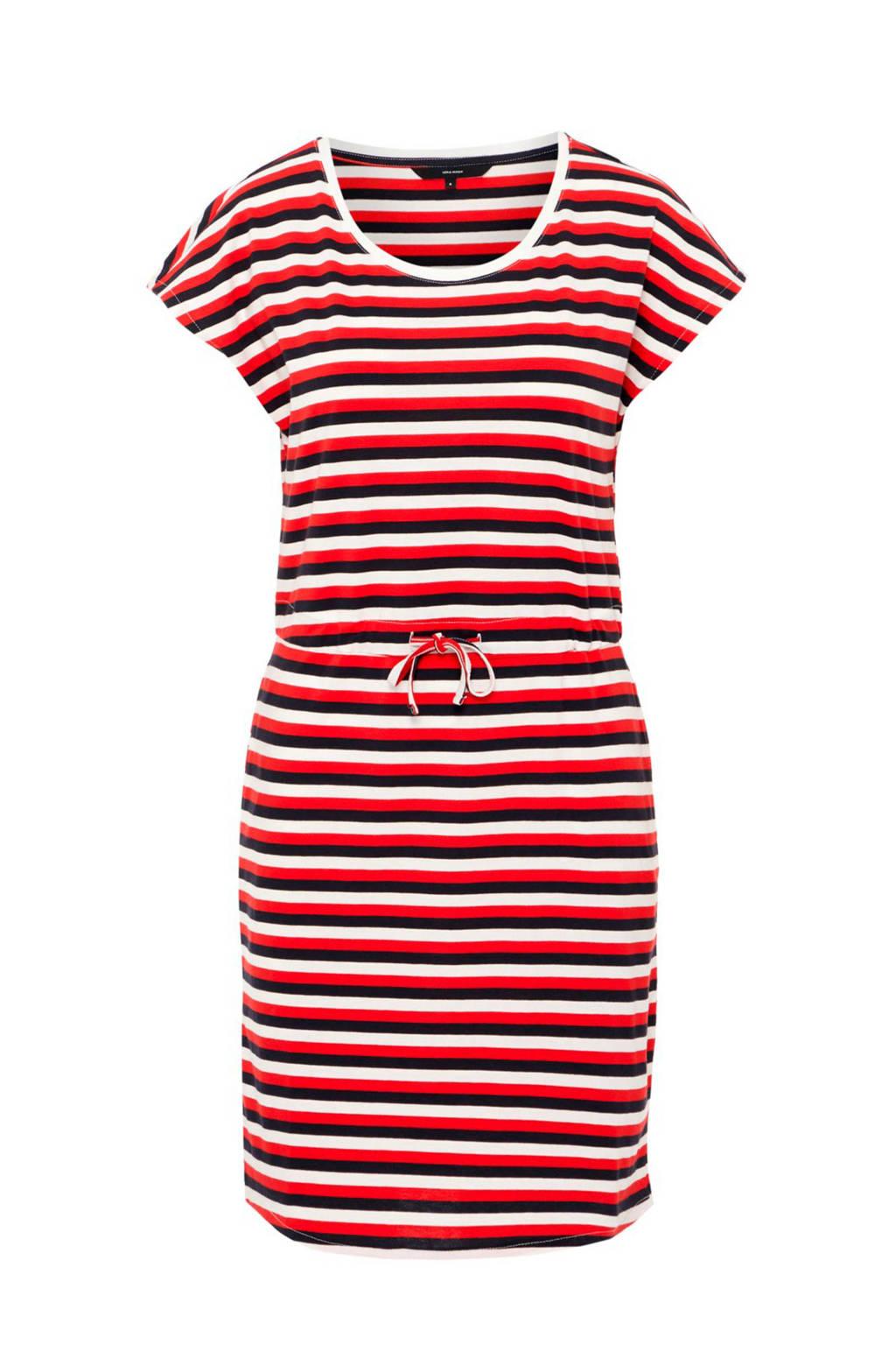 AWARE by VERO MODA gestreepte jurk met steekzakken, Wit/rood/blauw