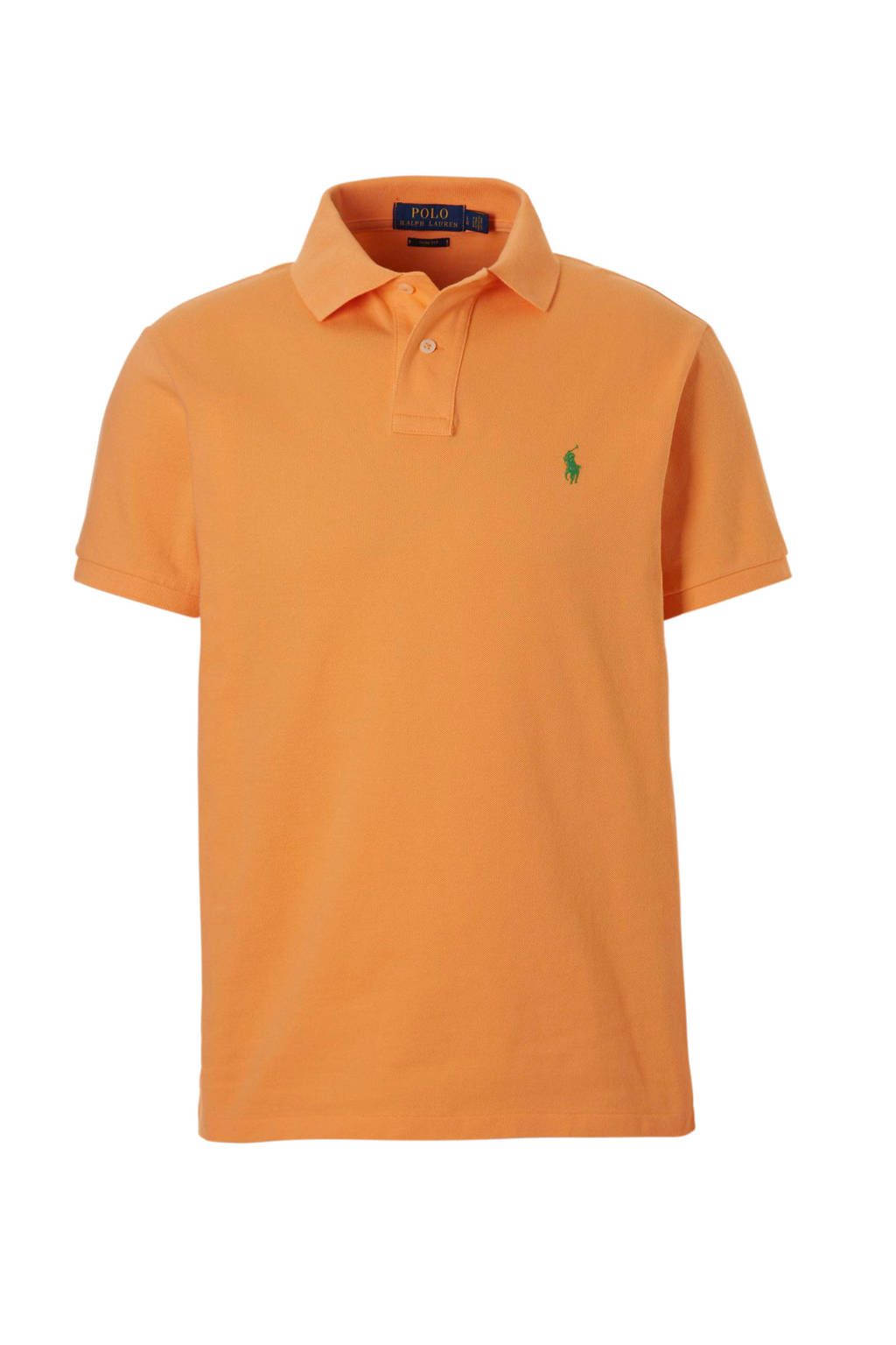 POLO Ralph Lauren slim fit polo, Licht oranje