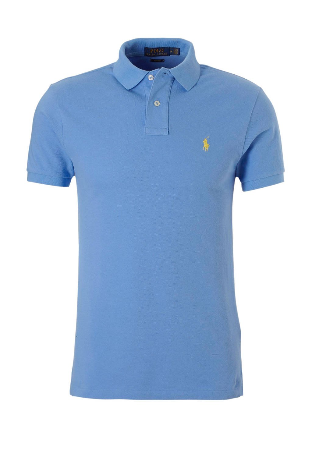 POLO Ralph Lauren slim fit polo blauw, Blauw