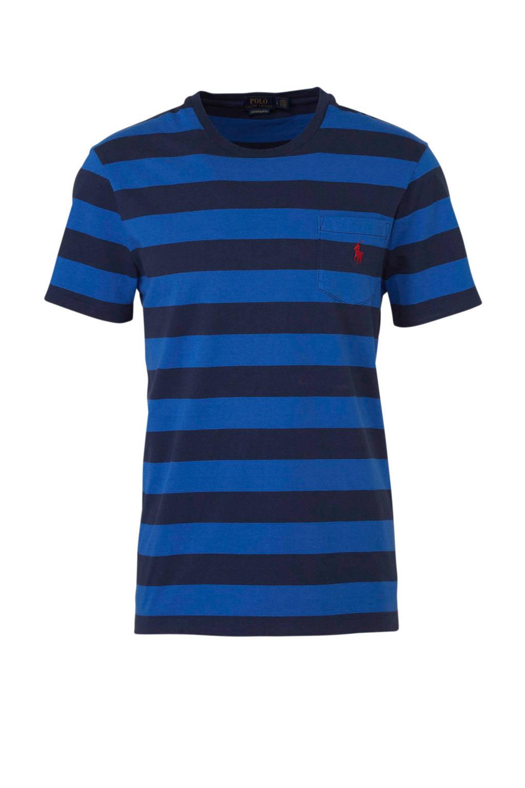 POLO Ralph Lauren gestreept T-shirt blauw, Blauw