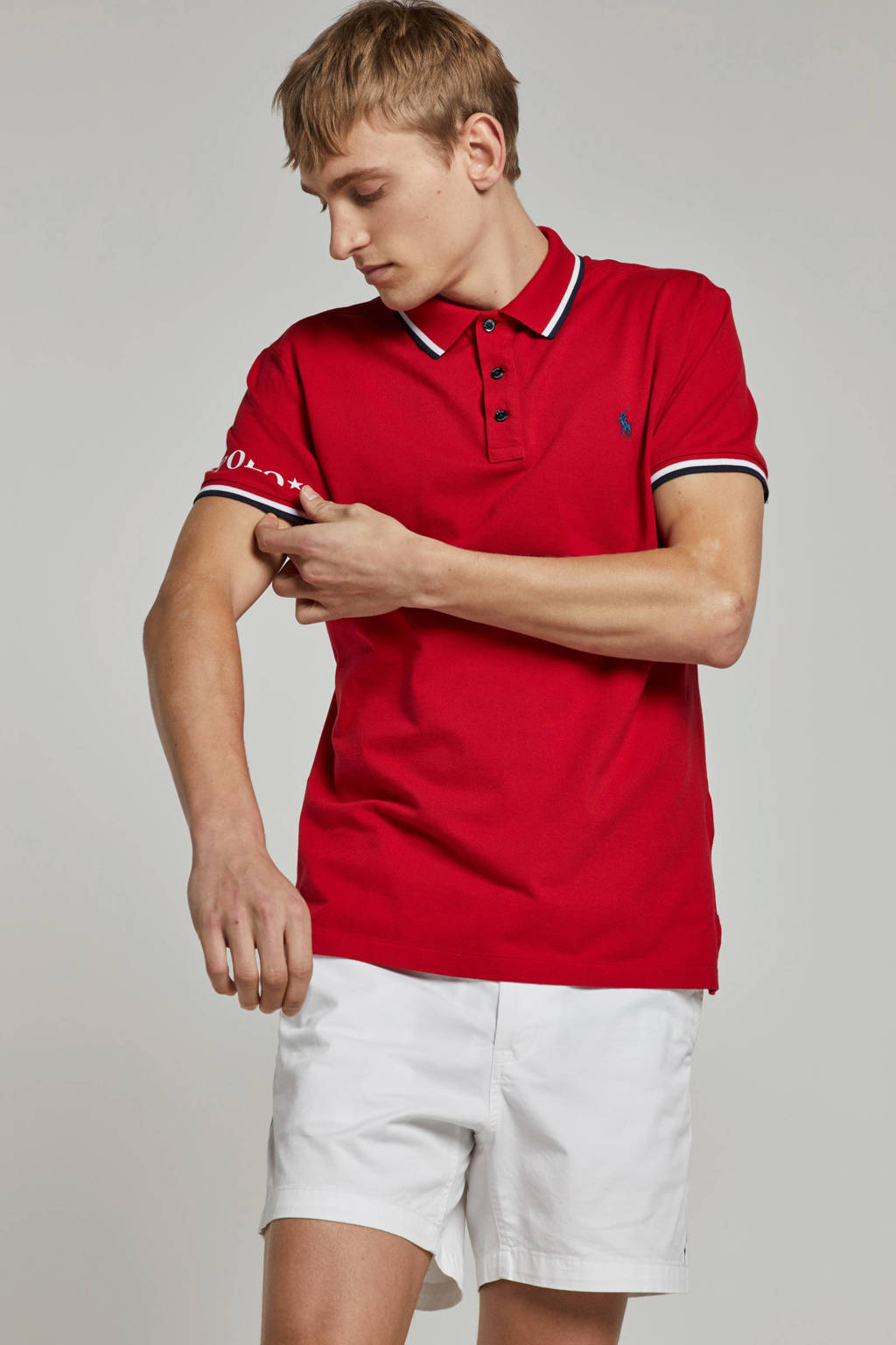 POLO Ralph Lauren slim fit polo, Rood