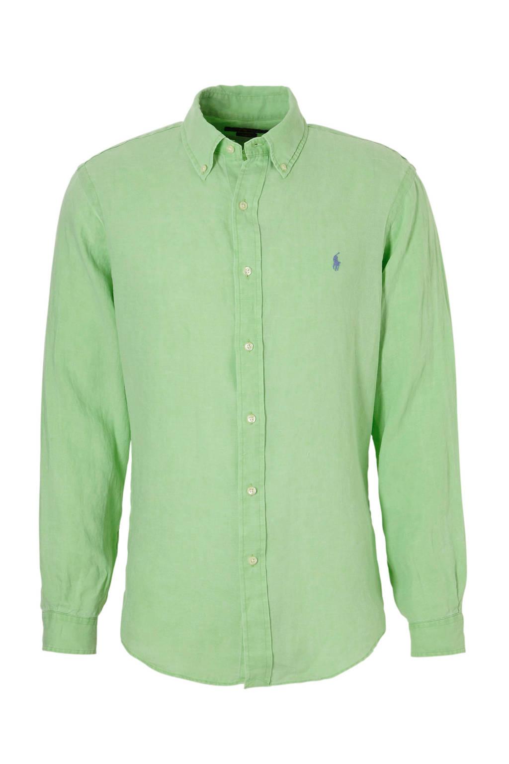 POLO Ralph Lauren slim fit overhemd, Lichtgroen