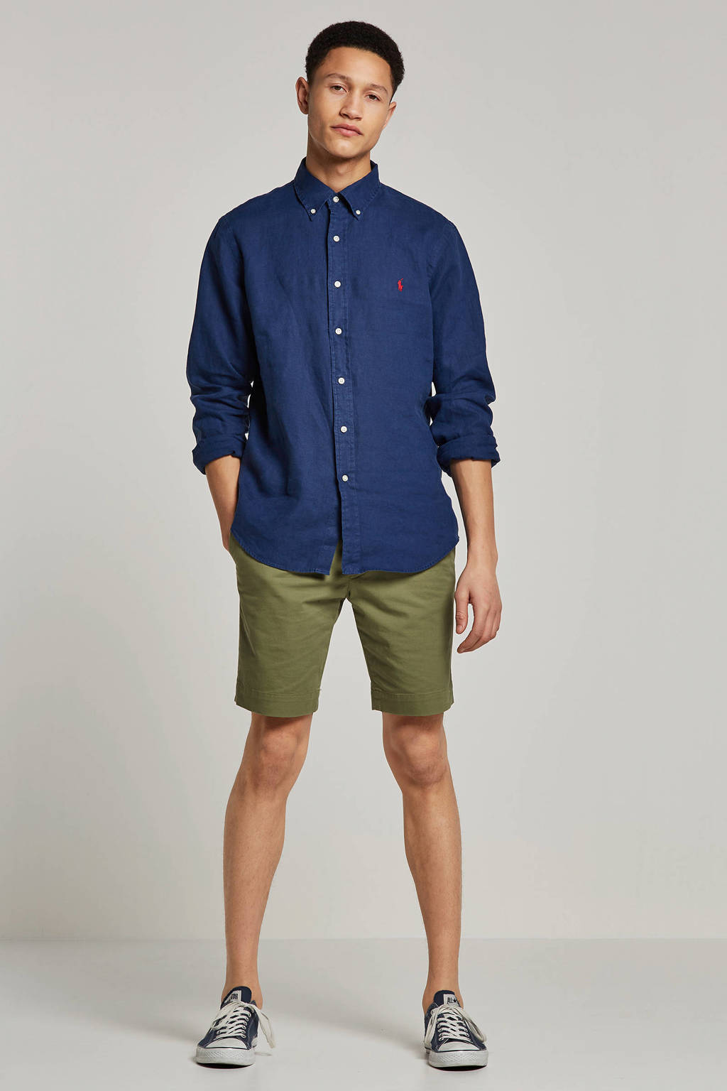 POLO Ralph Lauren slim fit overhemd, Donkerblauw