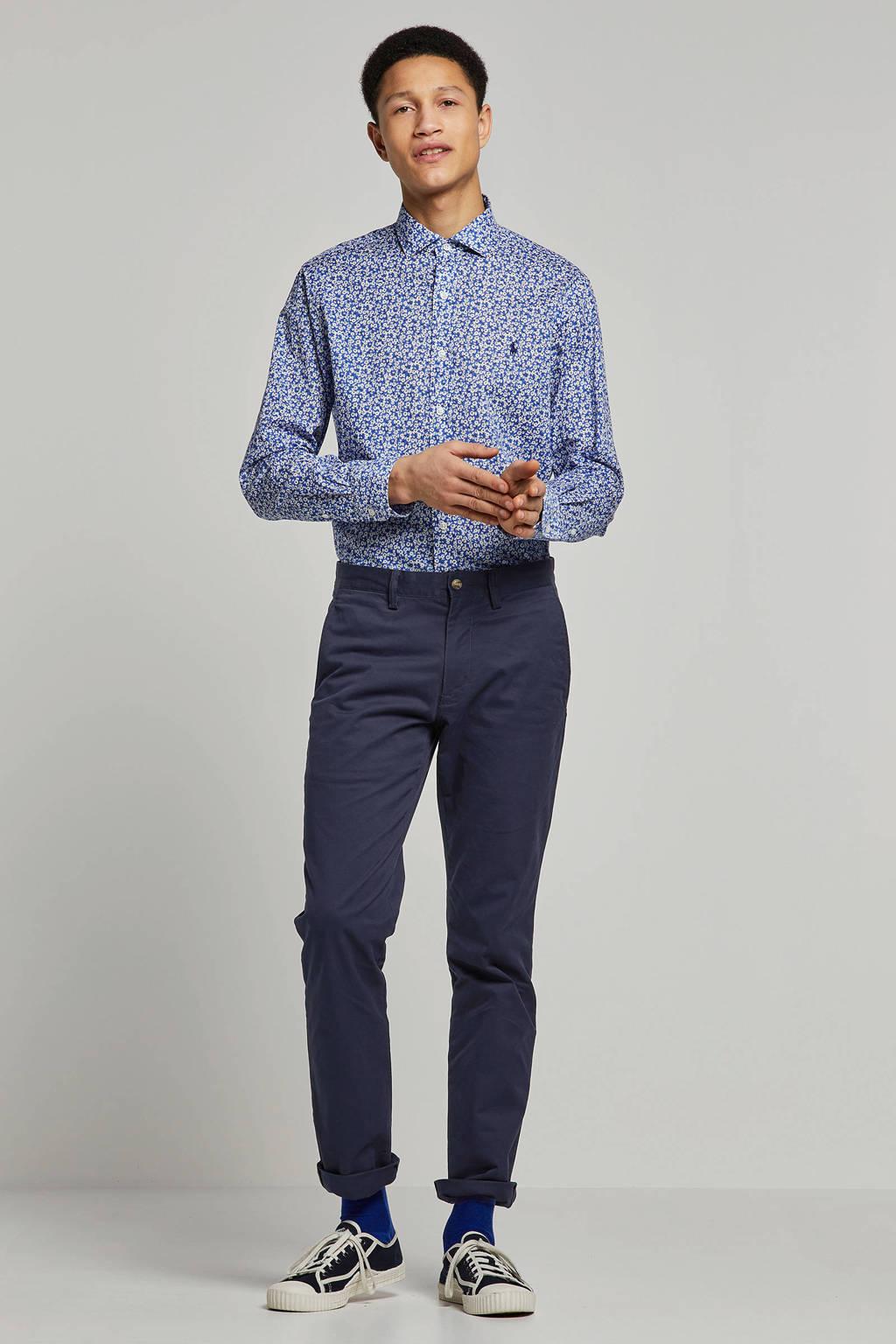 POLO Ralph Lauren gebloemd slim fit overhemd blauw, Blauw
