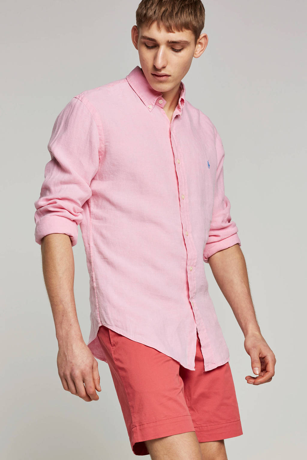 POLO Ralph Lauren slim fit overhemd, Roze