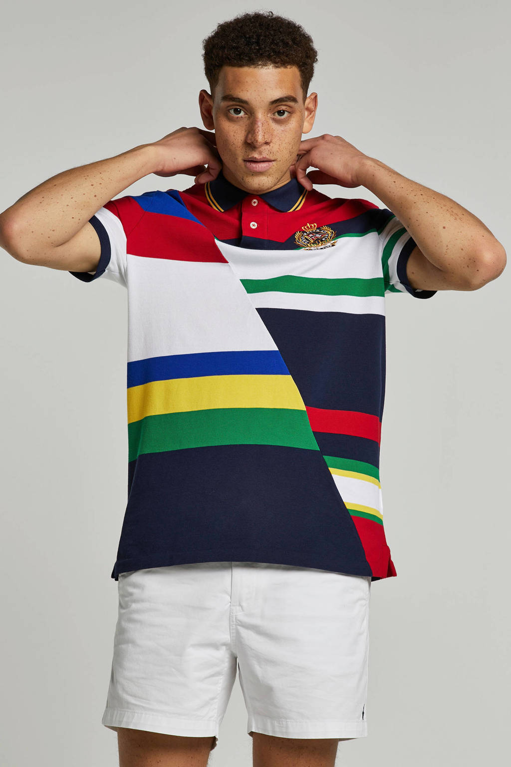 POLO Ralph Lauren regular fit polo, Rood/marine