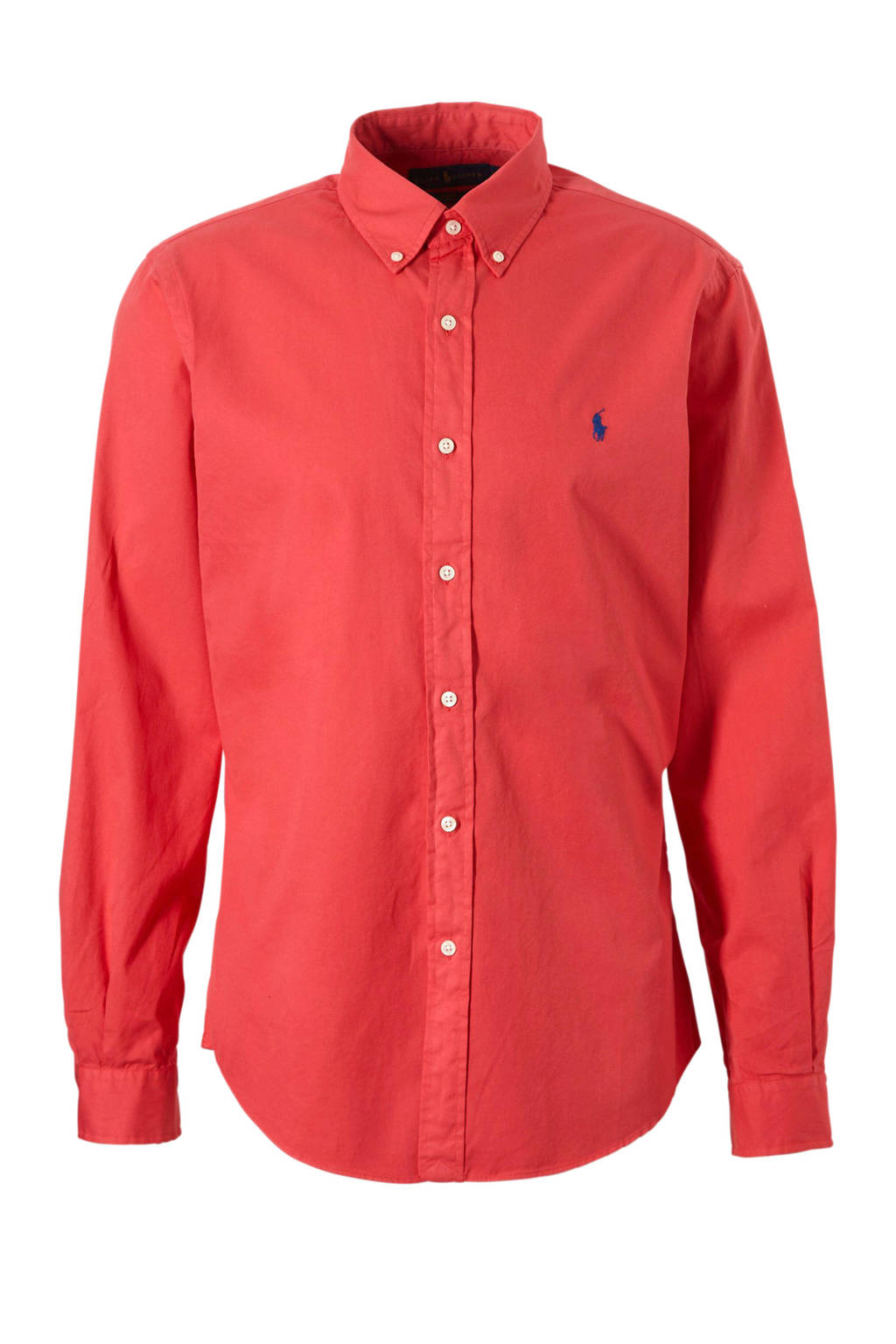 Rood Overhemd Slim Fit.Polo Ralph Lauren Slim Fit Overhemd Wehkamp