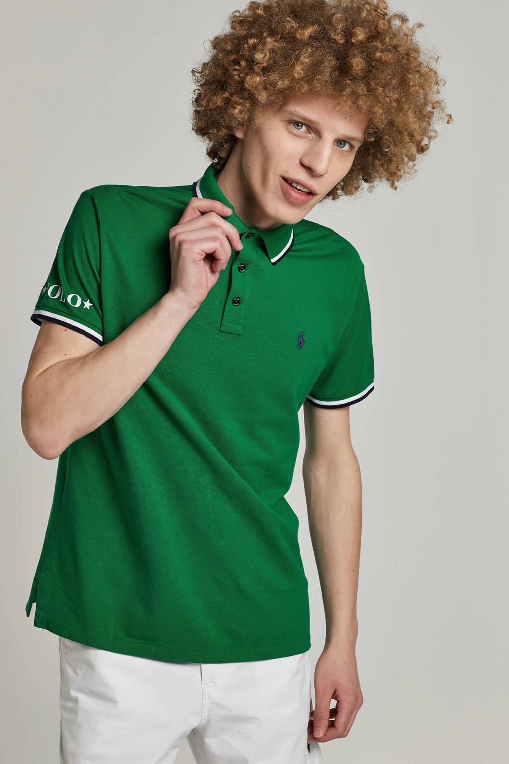 POLO Ralph Lauren slim fit polo, Groen
