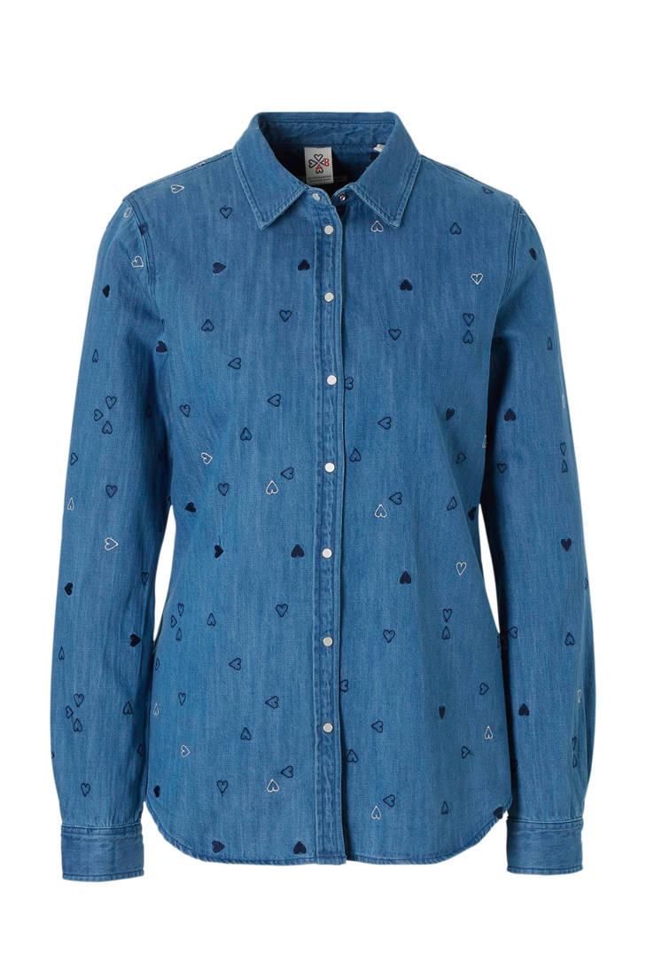 met Scotch boduursels denim Soda blouse BXR7x6Tq