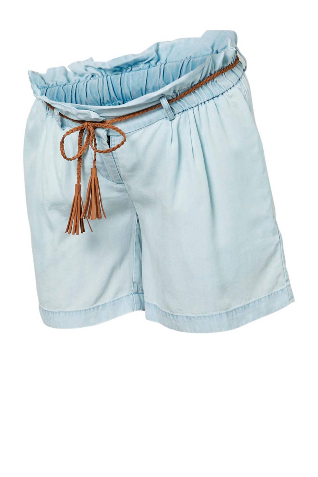 MAMA-LICIOUS zwangerschaps jeans short blauw, Blauw
