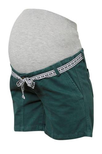 zwangerschaps korte broek groen