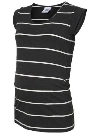 gestreept zwangerschaps T-shirt Ally grijs