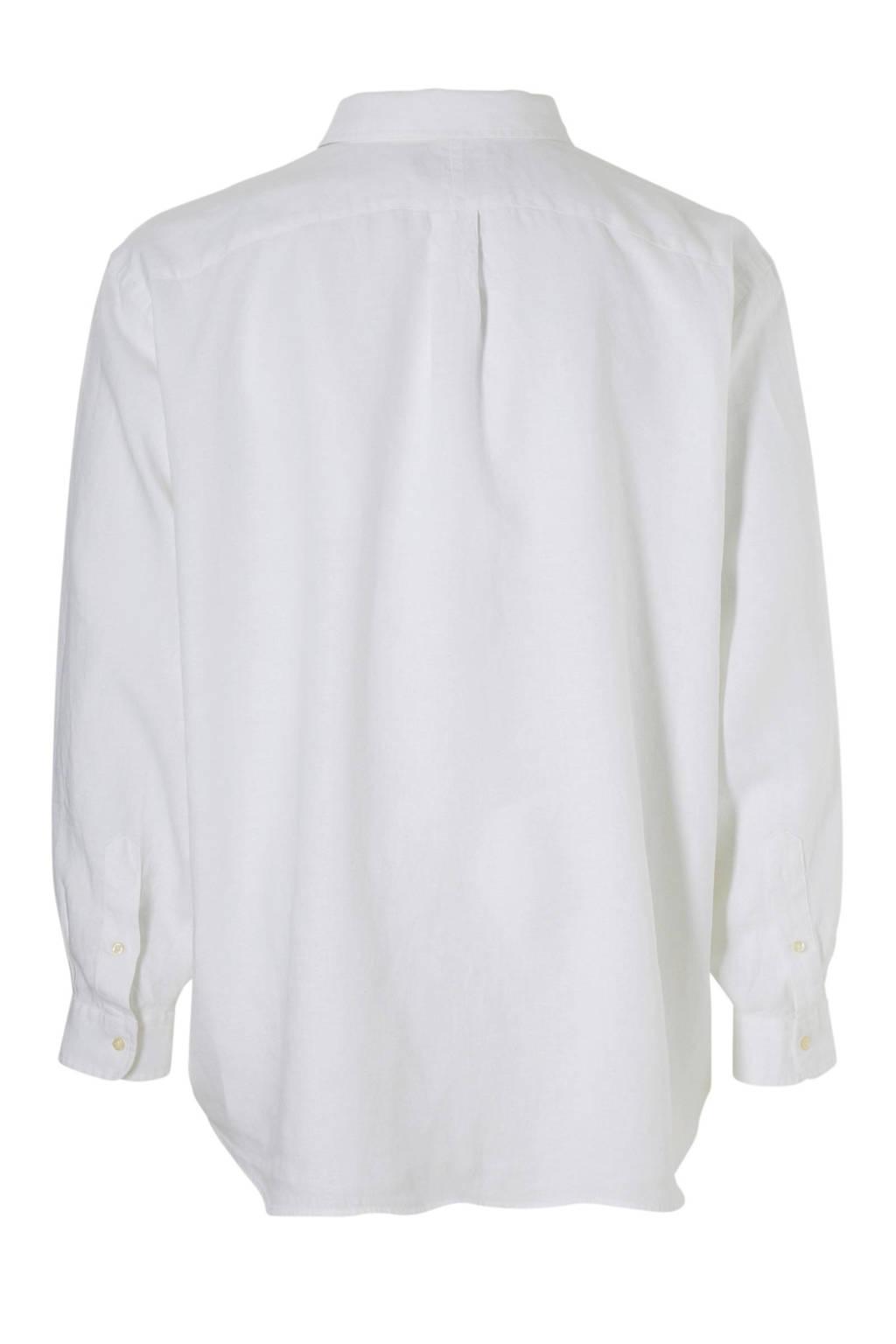 Linnen Overhemd Wit.Polo Ralph Lauren Big Tall Size Linnen Overhemd Wehkamp