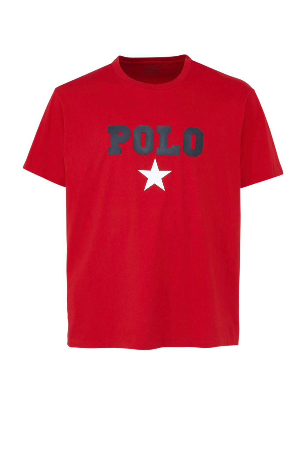 POLO Ralph Lauren Big & Tall +size T-shirt, Rood