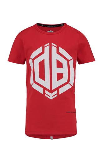T-shirt met print Daley Blind rood