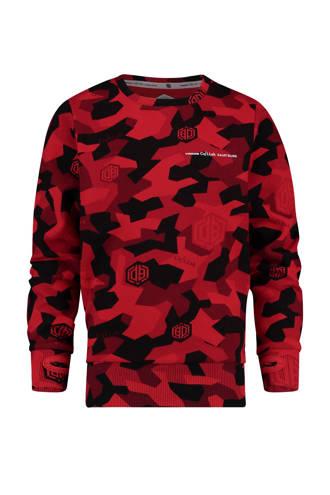 sweater met camouflageprint rood