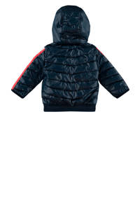 Vingino zomerjas met contraststreep Telmar donkerblauw, Donkerblauw/rood