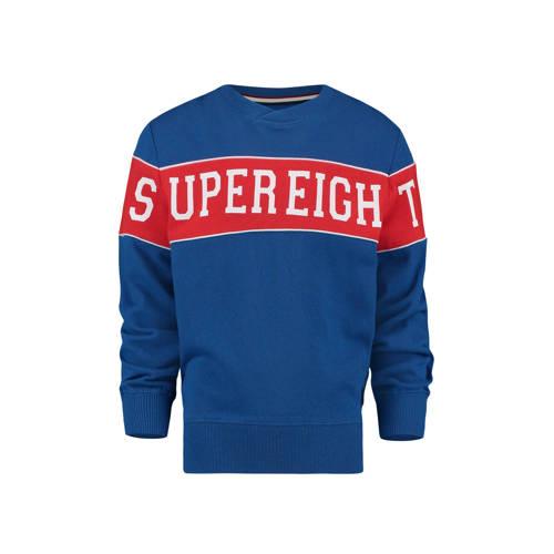 Vingino sweater met tekst Nabko blauw kopen