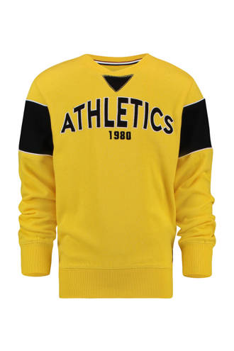 sweater met tekst Nabko geel