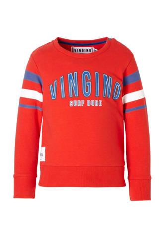 sweater met tekst Neil rood