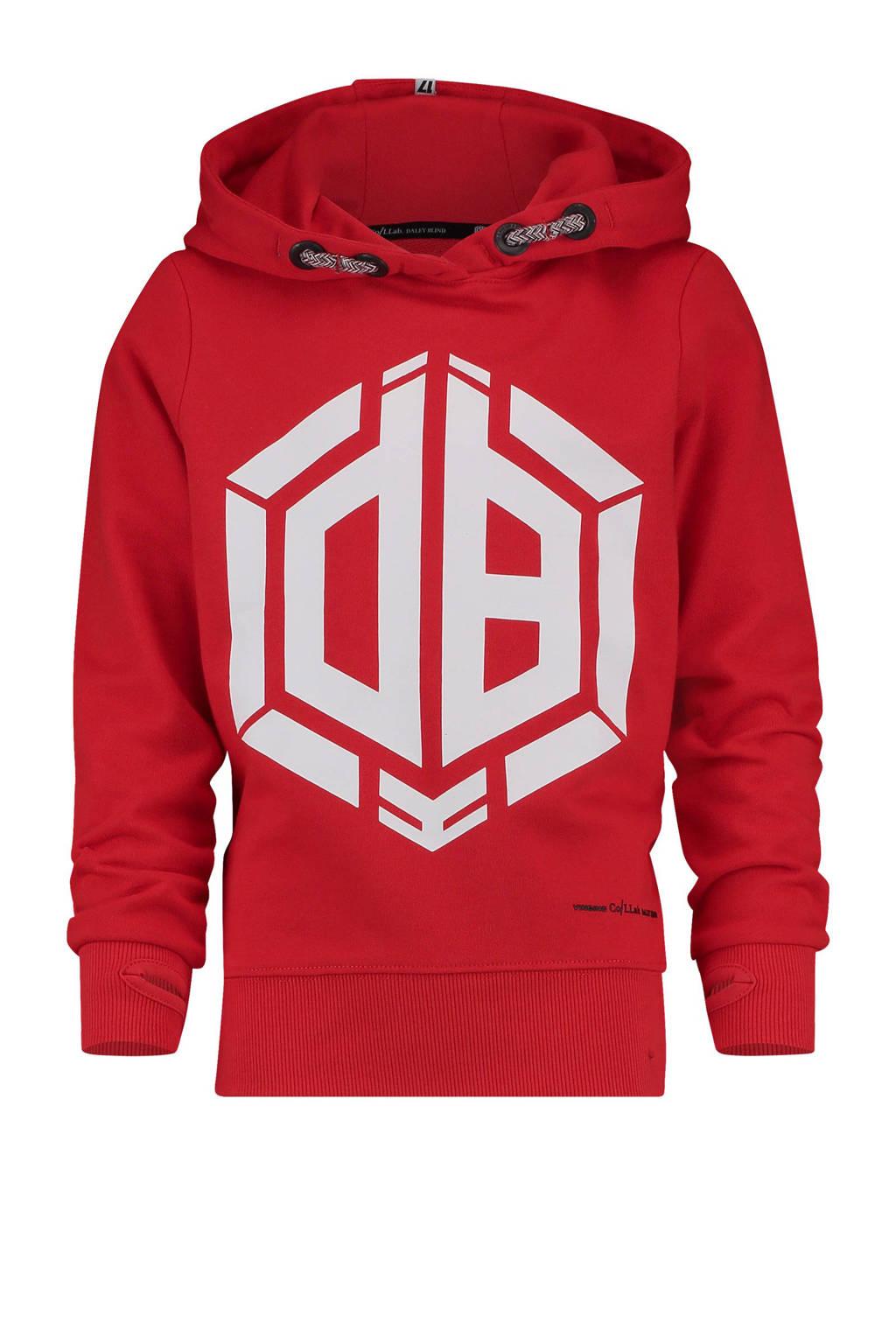 Vingino hoodie met print Daley Blind rood, Rood