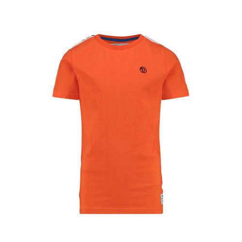 Vingino T-shirt Herlief met contrastbies oranje kopen