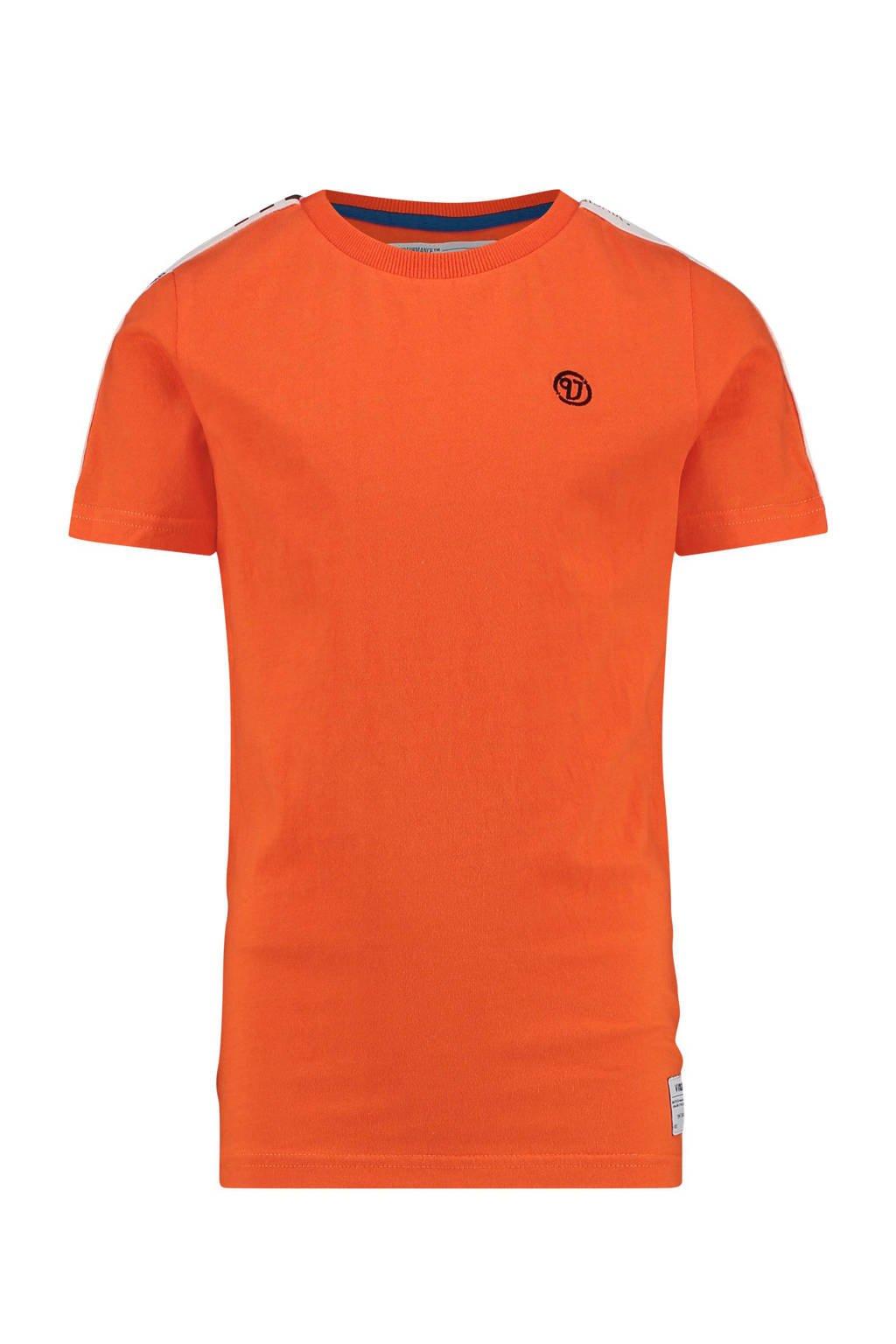 Vingino T-shirt Herlief met contrastbies oranje, Oranje