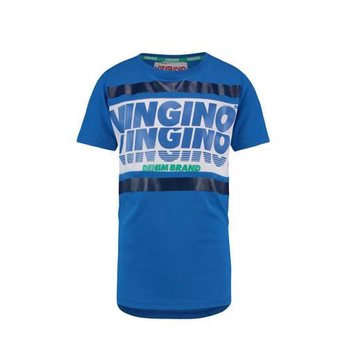 Vingino T-shirt Hemo met logo blauw kopen
