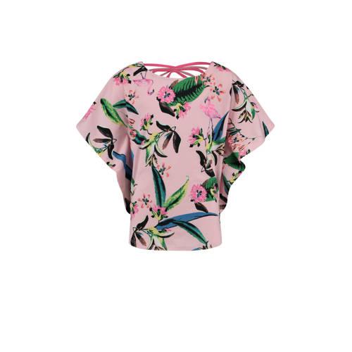 Vingino T-shirt Ilonka met baldprint roze kopen