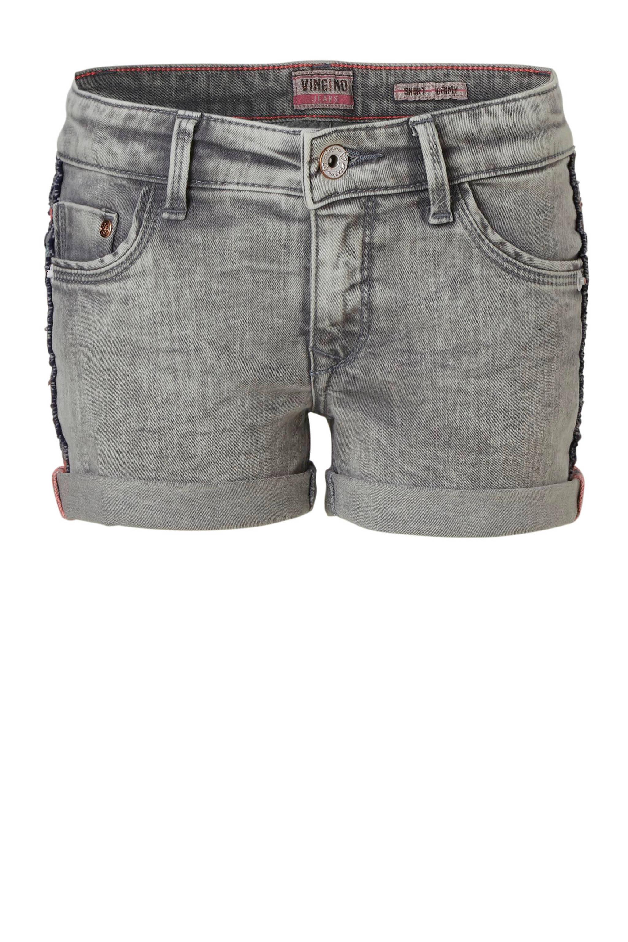 f084291f5c7365 Vingino jeans short Daimy met zijstreep | wehkamp