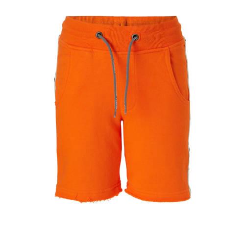 Vingino sweatshort Rins met zijstreep oranje kopen