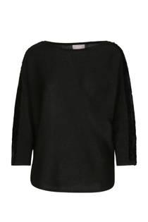 Cassis oversized trui met pailletten zwart (dames)