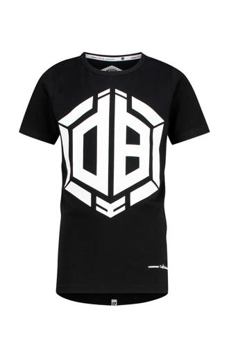 T-shirt met print Daley Blind zwart