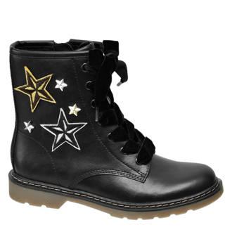 Graceland veterboots met sterren zwart