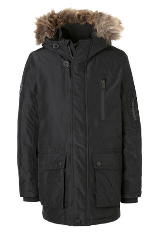 Here & There parka zwart