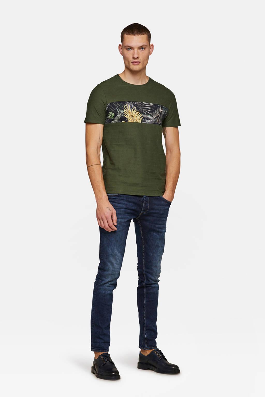 WE Fashion slim fit T-shirt, Groen