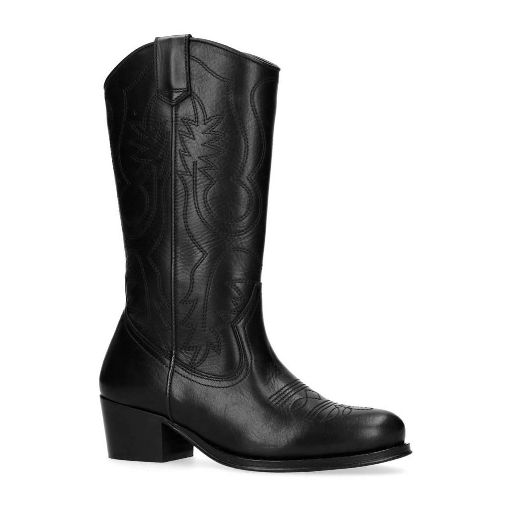 Sacha cowboy boots zwart, Zwart