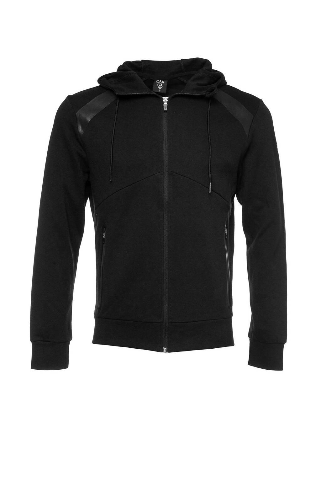Scapino Osaga   sportvest zwart, Zwart/grijs