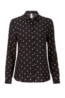 Miss Etam Regulier blouse all over print zwart (dames)