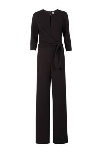Lang jumpsuit met strikdetail zwart