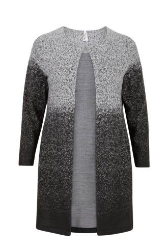 Plus vest in jacquard dessin zwart