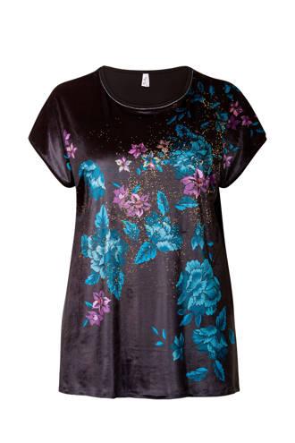 Plus T-shirt met bloemenprint