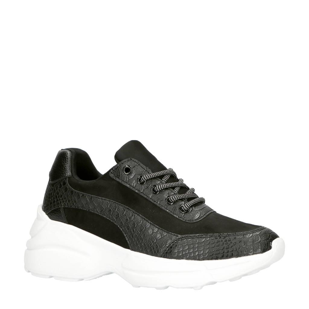 Lost Ink  chunky sneakers zwart, Zwart/wit