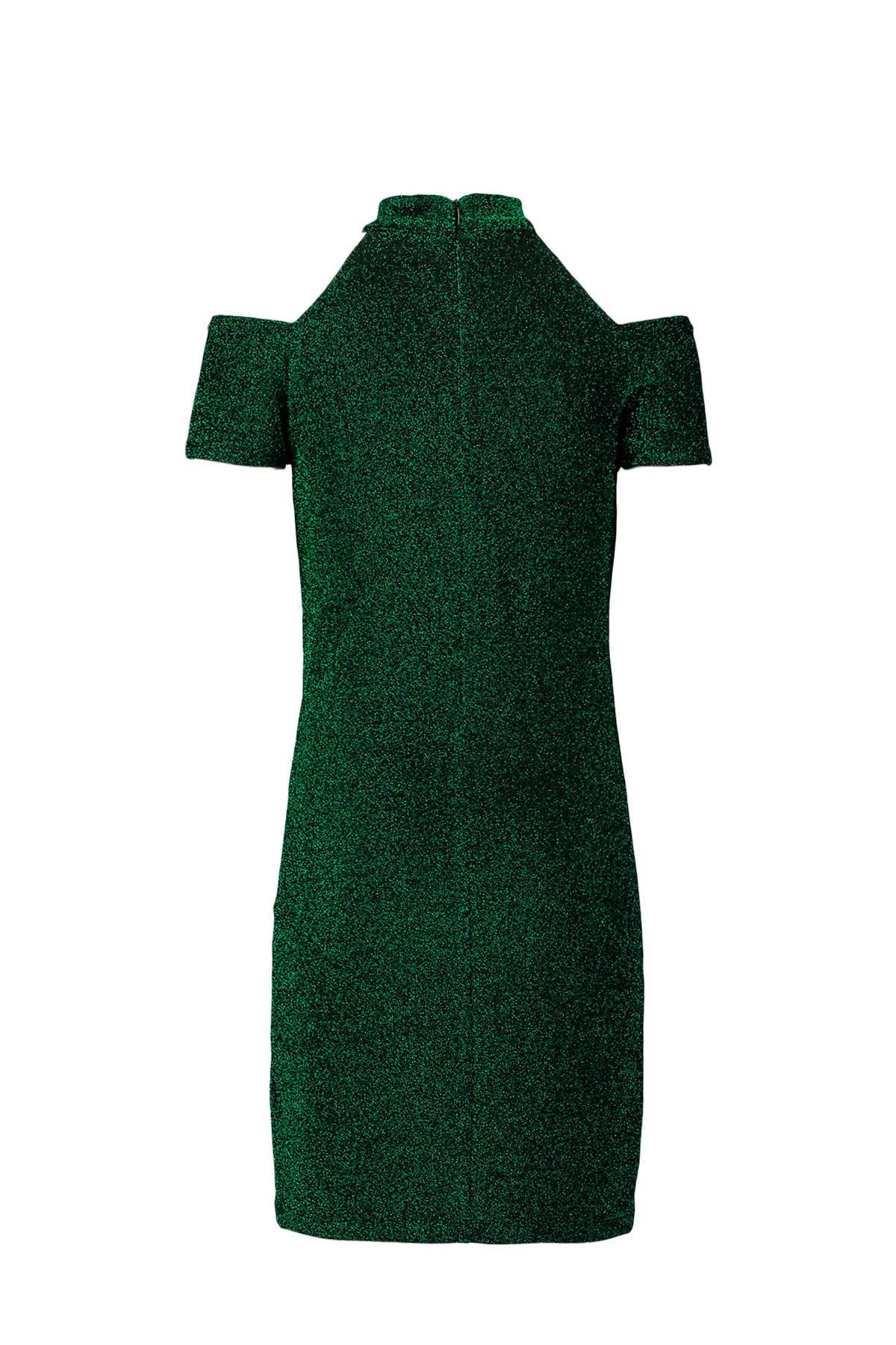 groene glitter jurk
