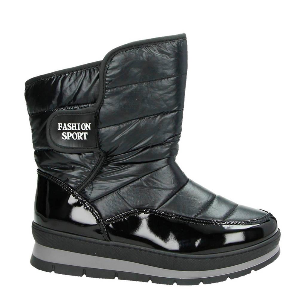 Snow Fun   snowboots zwart, Zwart