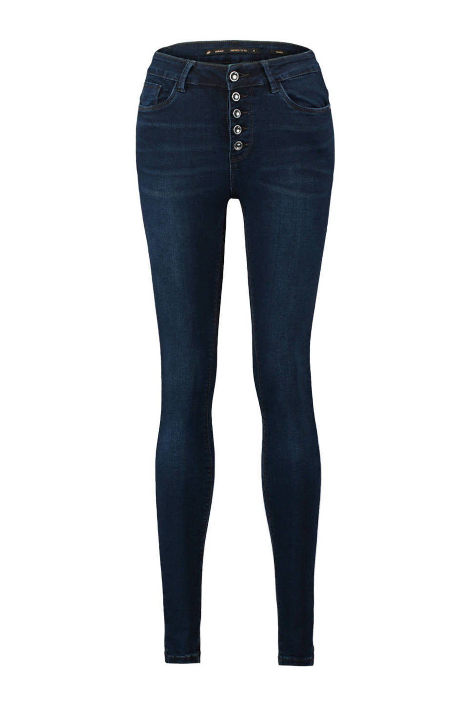 CoolCat high waist skinny jeans- extra lang, Dark denim 462d6780f8