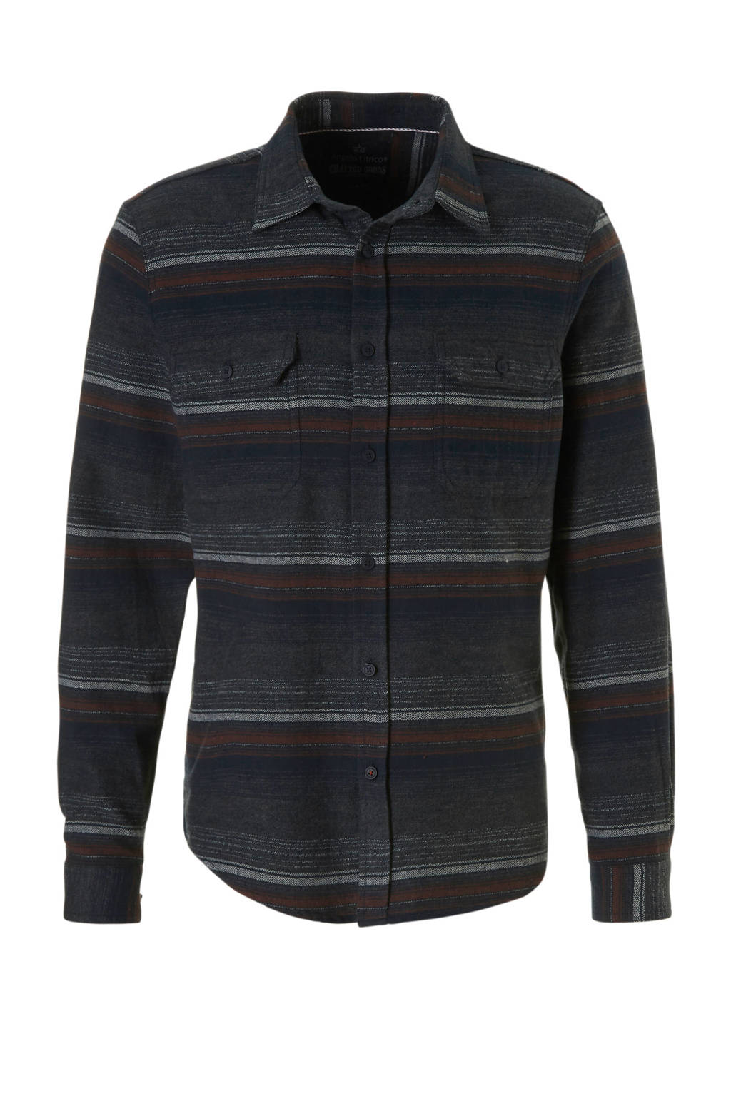 C&A Angelo Litrico flanellen overhemd, Zwart