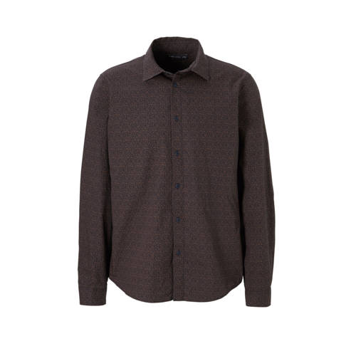 C&A Angelo Litrico regular fit overhemd met print bruin